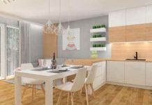 Urządzanie wnętrz: salon z kuchnią, pokój dzienny